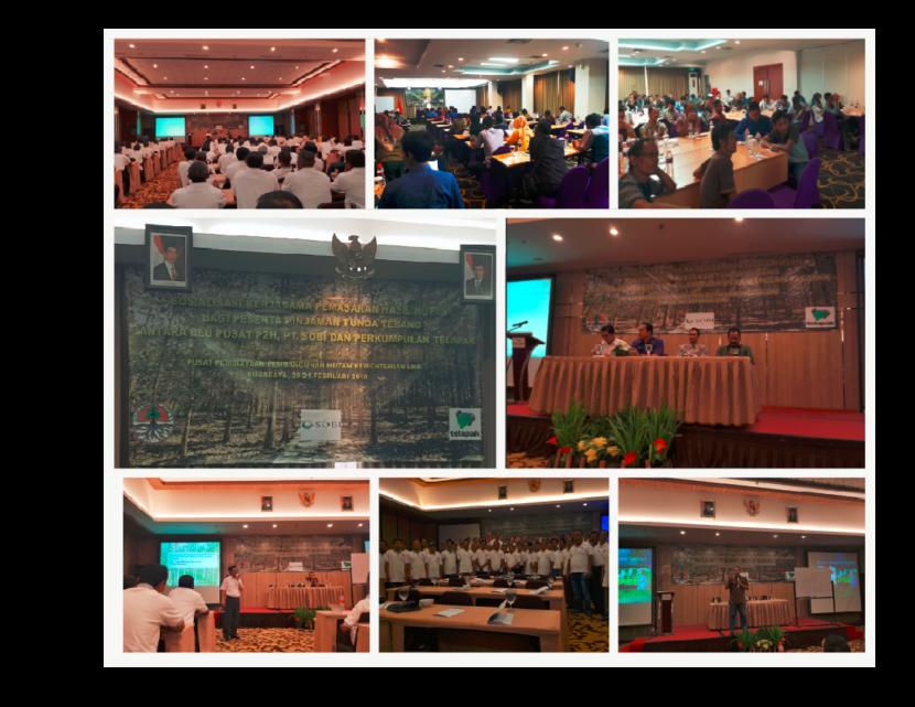 Sosialisasi Kerjasama antara Telapak, BLU Pusat P2H, dan PT. Sosial Bisnis Indonesia yang Diselenggarakan di 3 Kota (Surabaya, Solo, and Bandung) pada bulan Maret 2018